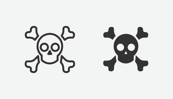 conjunto de ícones de perigo. atenção símbolo isolado vetor