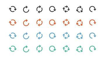 conjunto de diferentes vetores de ícone de sinal de seta