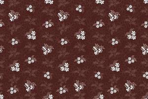 costura padrão floral com folhas em estilo de arte linha retrô elegante. fundo abstrato linha floral sem emenda. florescer jardim de inverno ornamental com florescer natureza motivo sazonal vetor