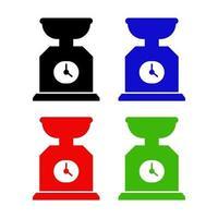 ícone de balança de cozinha no fundo vetor