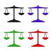ícone de escala de peso no fundo vetor
