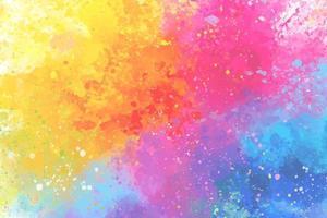 cores artísticas do arco-íris respingam fundo aquarela vetor