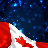 fundo 3d moderno do dia do Canadá vetor