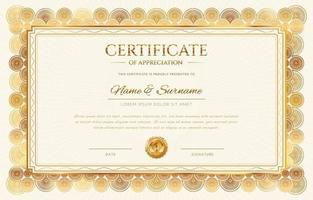 modelo de certificado de diploma elegante vetor