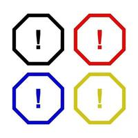 ícone de sinal de perigo no fundo vetor