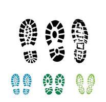 sapatos de bota imprimir sinal vetorial vetor