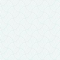 padrão de círculos de repetição de interseção azul e branco. o estilo japonês circunda o fundo sem emenda. textura repetida sem fim. ilustração vetorial. gráfico vetorial oriental mínimo vetor