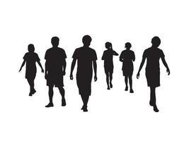 pessoas caminhando juntas em vetor gráfico de ilustração