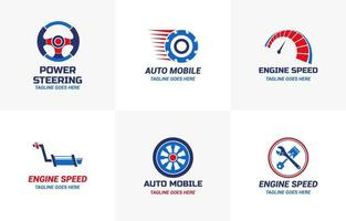conjunto de design de modelo de logotipo de carro automotivo vetor