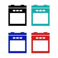 ícone de forno em fundo branco vetor