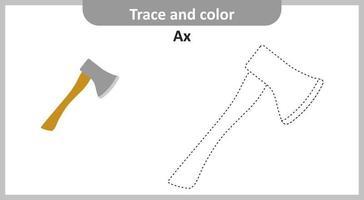 traço e machado de cor vetor