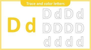 trace e pinte as letras d vetor