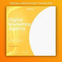 modelo de banner de mídia social de agência de marketing digital. postagem editável em mídia social para empresas. vetor