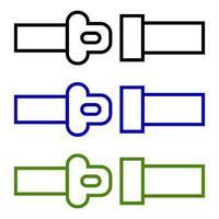 ícone de cinto de carro em fundo branco vetor