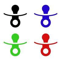 ícone de chupeta em fundo branco vetor