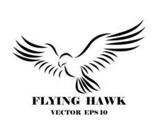 logotipo do falcão que é flyin eps 10 vetor