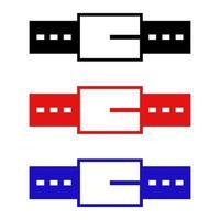 ícone de cinto em fundo branco vetor
