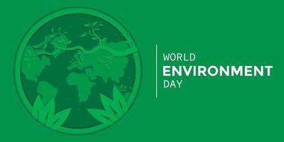 estilo de papel do dia do meio ambiente mundial vetor