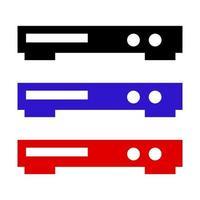 ícone do reprodutor de DVD em fundo branco vetor