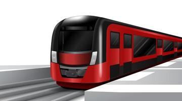 trens elétricos de alta velocidade. transporte público na cidade metropolitana. ilustração vetorial. vetor
