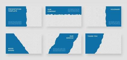 modelos de apresentação modernos. modelo de apresentação de negócios e design de layout de página. ilustração vetorial. vetor