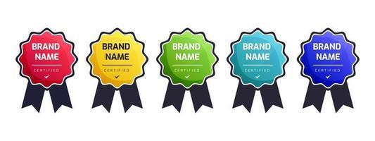 modelo de sistema certificado de emblema de logotipo digital para empresa de treinamento de certificação. vetor