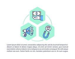 promovendo a marca na internet ícones de linha de conceito com texto vetor