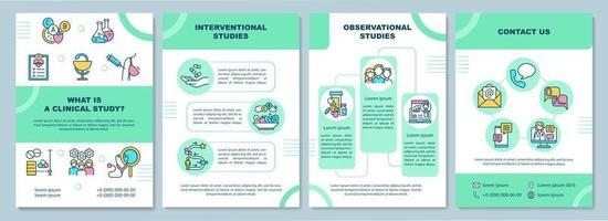 modelo de folheto de explicação de estudo clínico vetor