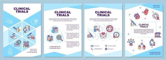 modelo de folheto de ensaios clínicos vetor