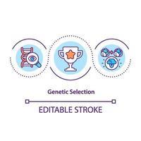 ícone do conceito de seleção genética