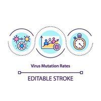 ícone do conceito de taxas de mutação de vírus vetor