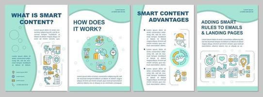 o que é modelo de folheto de conteúdo inteligente vetor