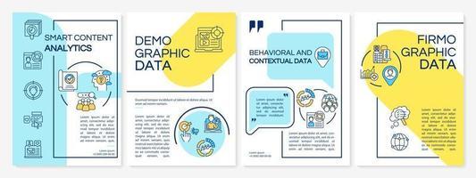 modelo de folheto de análise de conteúdo inteligente vetor