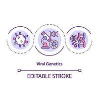 ícone do conceito de genética viral