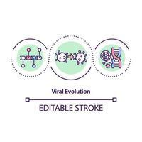 ícone do conceito de evolução viral vetor