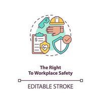 o direito ao ícone do conceito de segurança no trabalho vetor