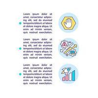 ícones de linha de conceito de dicas de marketing de conteúdo inteligente com texto vetor