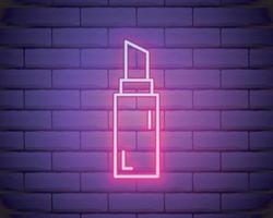 ícone de linha de batom neon vetor