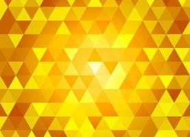 padrão geométrico sem costura com triângulos. ilustração em vetor amarelo.