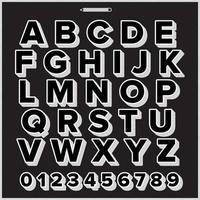 fonte de exibição do alfabeto az vetor