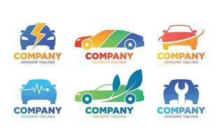modelo de logotipo de carro colorido vetor