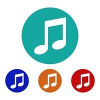 ícone de nota musical no fundo vetor