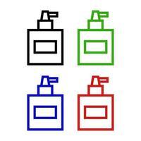 ícone de perfume no fundo vetor