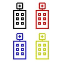 hospital isométrico no fundo vetor