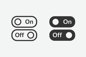 ícone ligado e desligado. botão alternar símbolo vetorial vetor