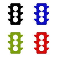 ícone de semáforo em fundo branco vetor