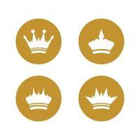 ícone de vetor de modelo de logotipo de coroa