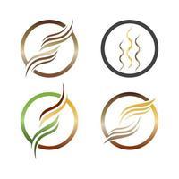 logotipo de cabelo e ícone de vetor de símbolo