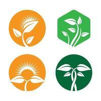 ilustração das imagens do logotipo da ecologia vetor