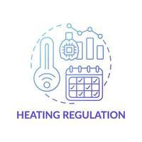ícone do conceito de regulação de aquecimento vetor